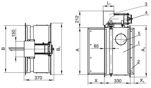 1 – корпус клапана
